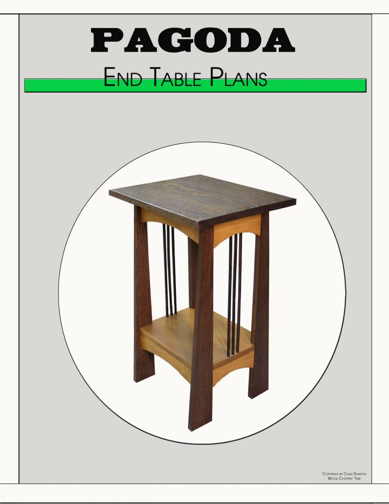 Pagoda End Table Wood Choppin Time